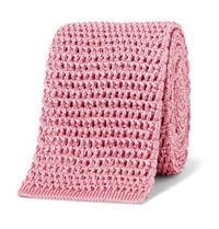 Tom Ford 7.5Cm Knitted Silk Tie Pink