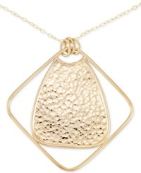 Sis By Simone I Smith I. Long Hammered Pendant Necklace In 14K Gold Over Sterling Silver