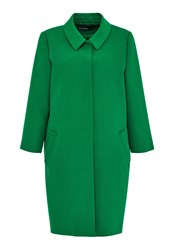 Hallhuber Egg Shaped Coat With 34 Sleeves Green