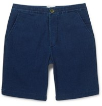 Oliver Spencer Cotton Jersey Drawstring Shorts Navy