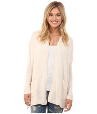 Billabong Outside The Lines Cardigan White Cap Women's Sweater Blue