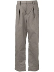 Tomorrowland Tailored Straight Leg Trousers Brown