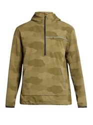 A.P.C. X Outdoor Voices Water Resistant Hooded Performance Jacket Khaki Multi
