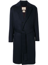 Loveless Longline Coat Blue