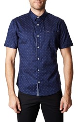 7 Diamonds Systematic Trim Fit Sport Shirt Navy