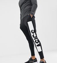 Asics Fitted Knit Pant In Black