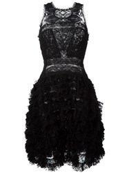 Ermanno Scervino Lace Panel Flared Dress Black