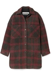 Iro Zunky Oversized Checked Flannel Jacket Red