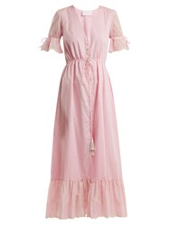Athena Procopiou Julia Button Front Dress Light Pink