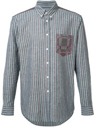 Julien David Lightweight Striped Shirt Blue