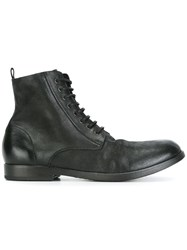 Marsell Lace Up Combat Boots Black