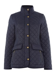 Joules Quilted Jacket Navy