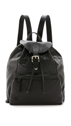 Dkny Leather Backpack Black