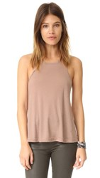 Free People Rib Slub Long Beach Tank Neutral
