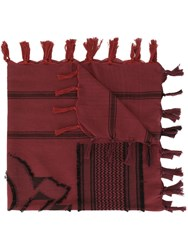 Undercover Patterned Scarf Red