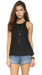 Free People Long Beach Tank Black