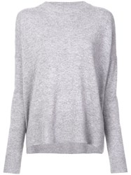 Derek Lam 10 Crosby Mullholland Crew Neck Jumper Grey