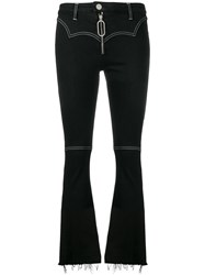 Dondup Slim Fit Flared Jeans Black