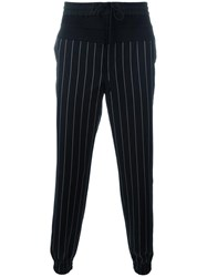 Juun.J Striped Trousers Black