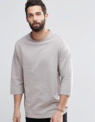 Only And Sons Sweatshirt With 3 4 Length Sleeves Crockery Stone
