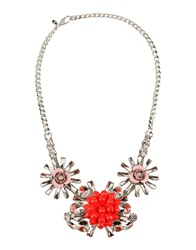 Msgm Necklaces Red