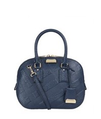 Burberry Small Orchard Check Bowling Bag Blue