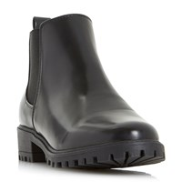 Head Over Heels Portiaa Cleated Chelsea Ankle Boots Black
