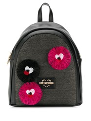 Love Moschino Tassel Patch Backpack Black
