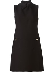 Valentino A Line Shirt Dress Black