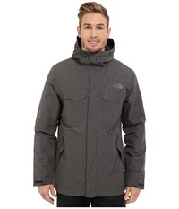 The North Face Grays Harbor Insulated Parka Tnf Dark Grey Heather Tweed Men's Coat Black