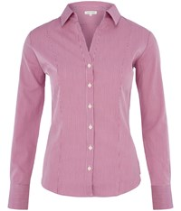 Austin Reed Hairline Stripe Open Neck Shirt Pink
