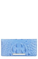 Women's Brahmin 'Ady' Croc Embossed Continental Wallet Blue Regatta