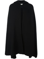 Christophe Lemaire Hooded Long Cape Black