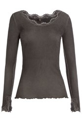 True Religion Silk Blend Top With Cotton Gr. M