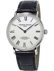 Frederique Constant Fc302p4s6 Art Of Porcelain Stainless Steel And Leather Watch