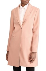 Lauren Ralph Lauren Petite Women's Crepe Reefer Coat Blush