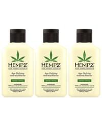Hempz Age Defying Herbal Body Moisturizer Trio Three Items 2.25 Oz From Purebeauty Salon And Spa