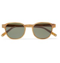 Moscot Arthur Round Frame Acetate Sunglasses Yellow