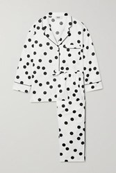 Sleepy Jones Marina Polka Dot Cotton Poplin Pajama Set White