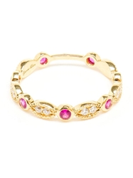 Yvonne Leon 18Kt Gold Antique Diamonds And Rubies Ring Red