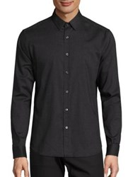 Theory Flannel Long Sleeve Shirt Black Victory