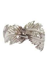 Rebecca Accessories Sterling Silver Crown Of Leaves Ring Metallic