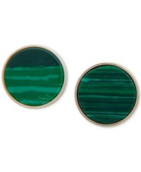 beb990d01 Dkny Gold Tone Colored Stone Stud Earrings Created For Macy's Green