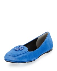 Tory Burch Fitz Suede Logo Loafer Jelly Blue Women's