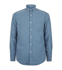 Hardy Amies Washed Effect Shirt Male Blue