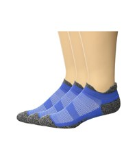 Feetures Elite Light Cushion 3 Pair Pack Blue No Show Socks Shoes