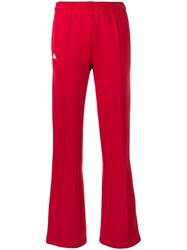 Kappa Track Style Trousers Red