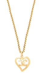 Wgaca What Goes Around Comes Around Chanel Cc Open Heart Necklace Previously Owned Gold