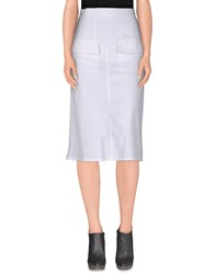 Pianurastudio Skirts 3 4 Length Skirts Women White