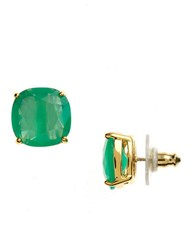 Kate Spade Small Square Stud Earrings Beryl Green Gold